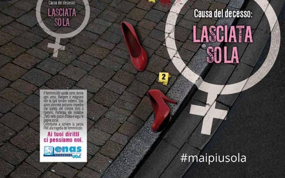 Maipiusola, l'Enas Ugl si mobilita in tutta Italia contro il femminicidio