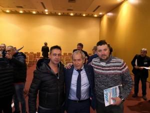 Al centro il Segretario Nazionale Ugl Sicurezza Civile, Enrico Doddi
