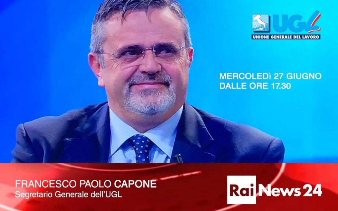 """CAPONE A RAINEWS24: """"STRAGE LAVORATORI NON CI DEVE LASCIARE INDIFFERENTI"""""""