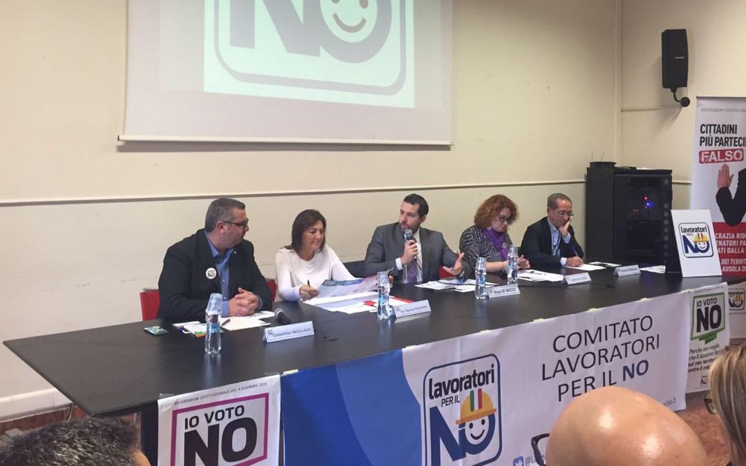Comitato Lavoratori per il NO: oggi ad Avellino, poi Matera e Taranto
