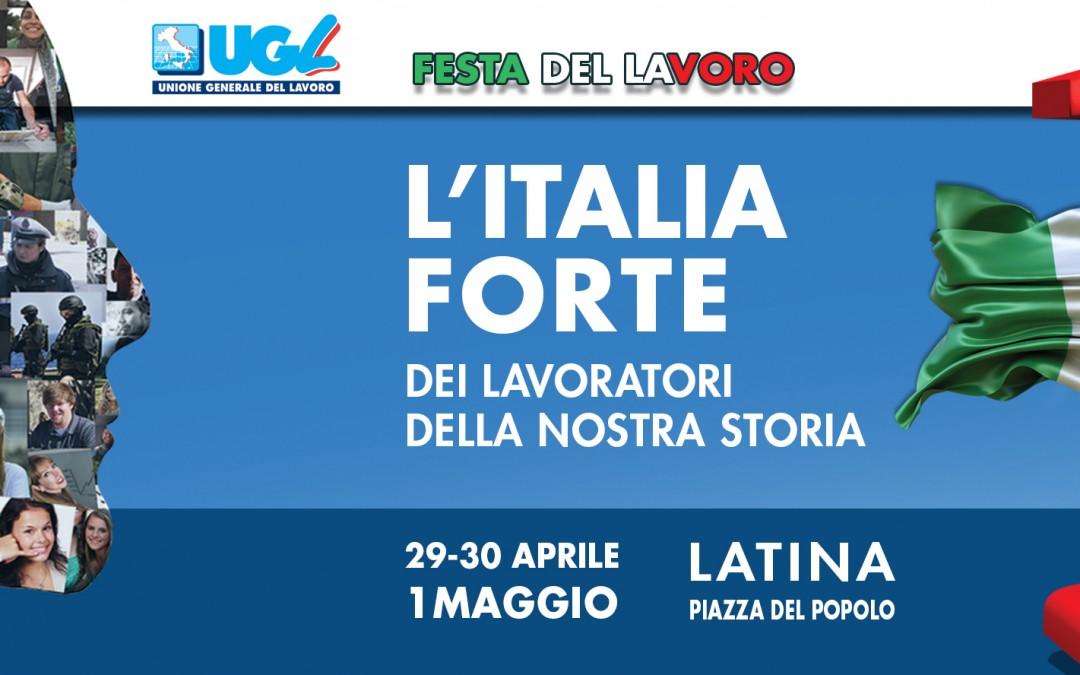 1° maggio, Ugl in piazza a Latina
