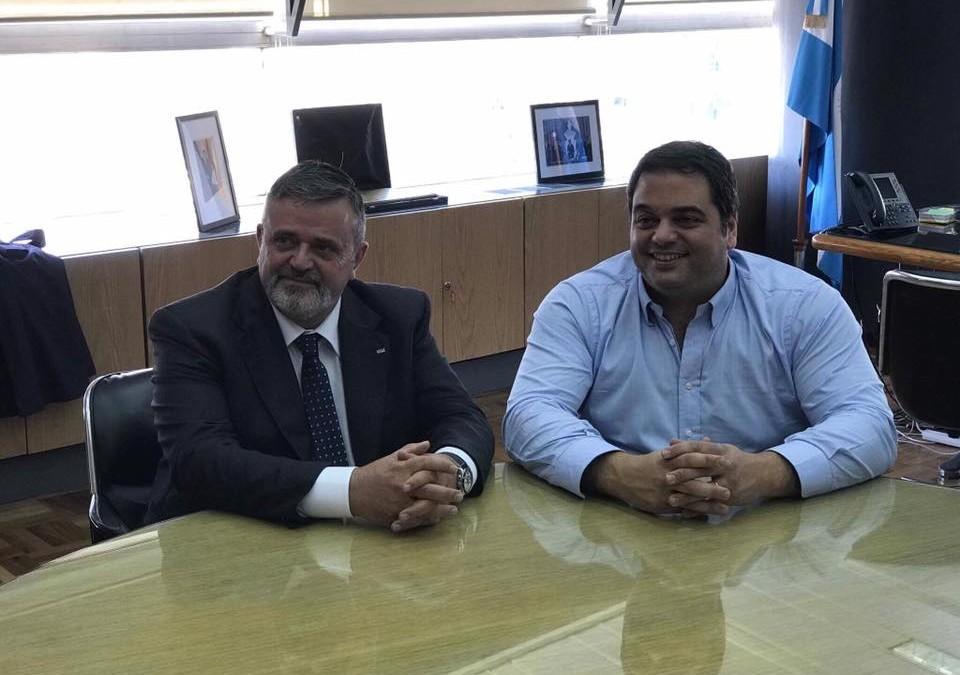 Capone incontra il ministro del Lavoro Jorge Triaca