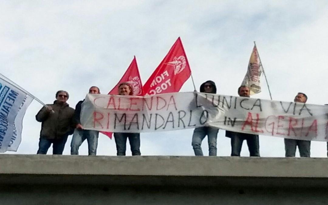 """Aferpi, Spera: """"Operai manifestano davanti all'azienda e sui tetti"""""""