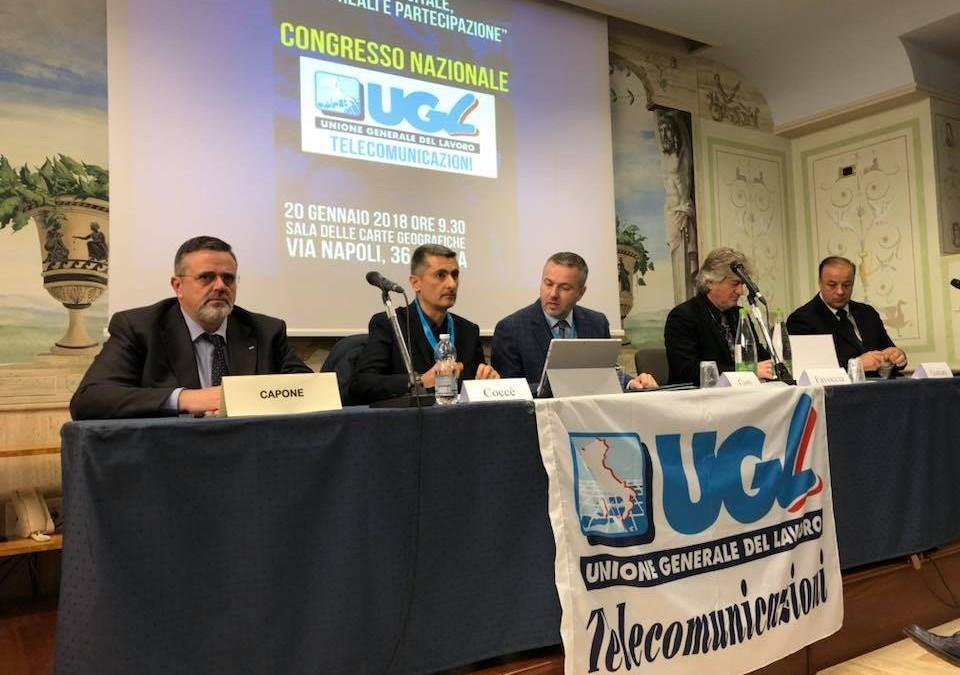Congressi, l'Ugl Tlc conferma Stefano Conti alla guida della Federazione