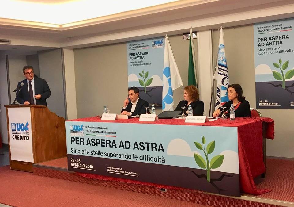 Il IV Congresso dell'Ugl Credito conferma il Segretario Nazionale Piero Peretti