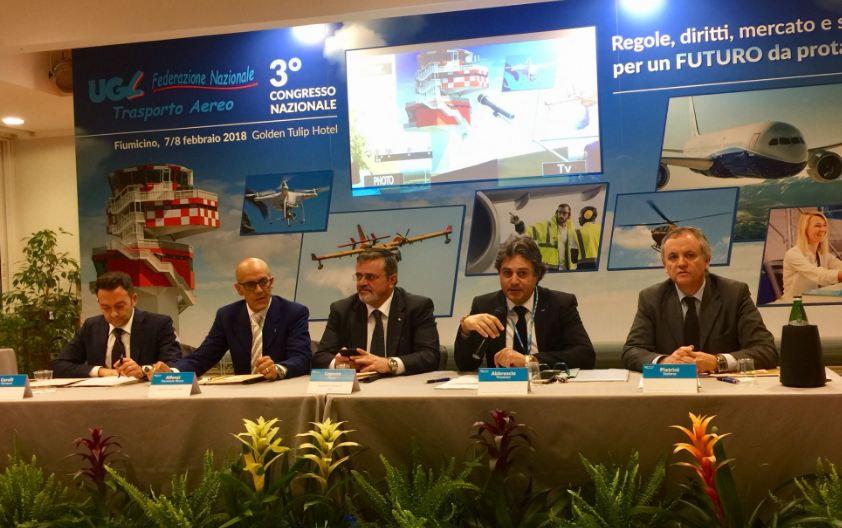 Il Congresso Ugl Trasporto aereo rielegge Francesco Alfonsi Segretario Nazionale