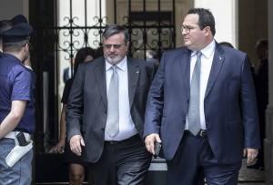 IL SEGRETARIO GENERALE UGL FRANCESCO PAOLO CAPONE CON CLAUDIO DURIGON SOTTOSEGRETARIO AL LAVORO