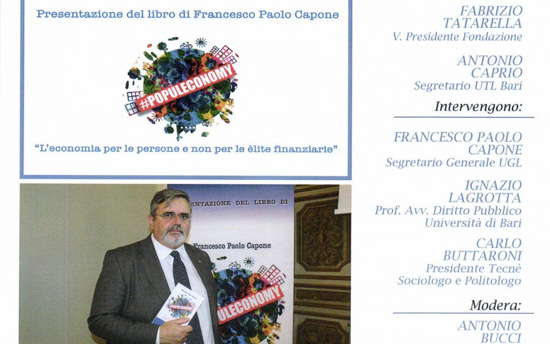Populeconomy mercoledì 3 luglio a Bari