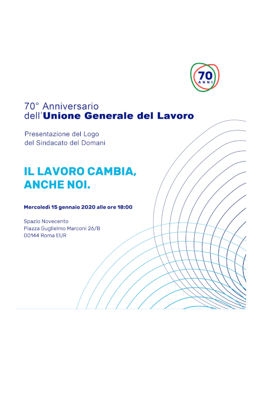 70° anniversario Unione Generale del Lavoro