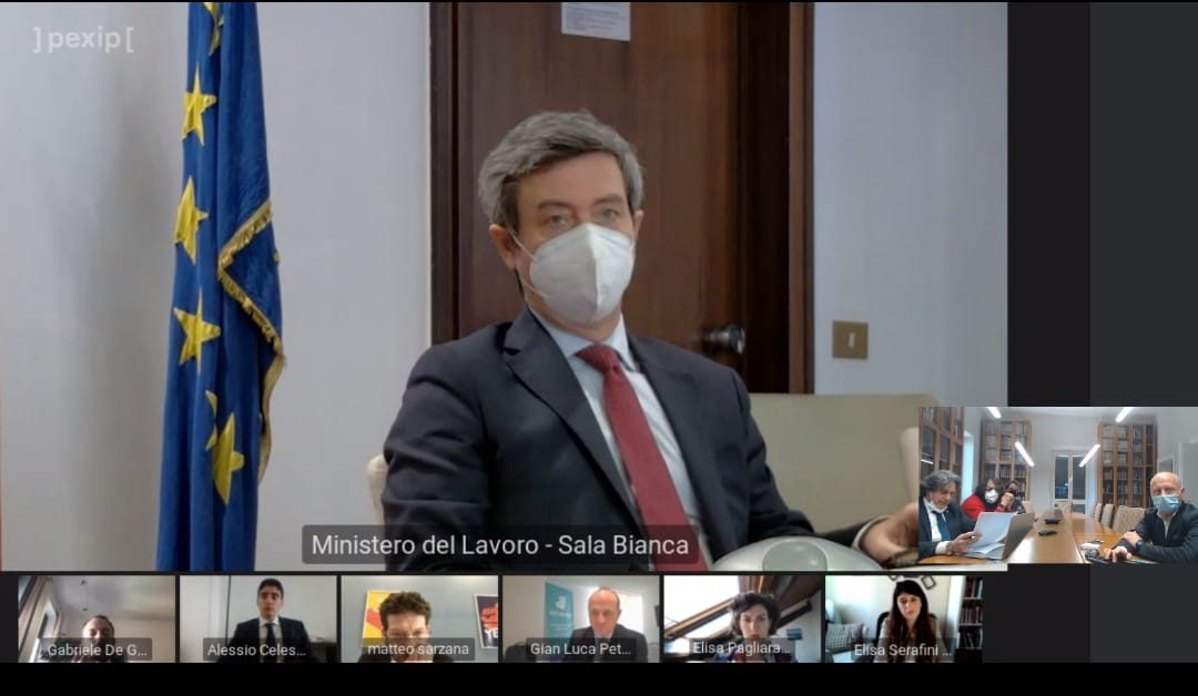 CAPORALATO: ORLANDO PARTECIPA A FIRMA PROTOCOLLO ASSODELIVERY UGL RIDER